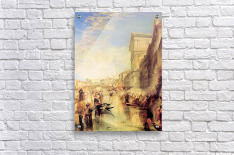 The grand canal in Venice by Joseph Mallord Turner  Acrylic Print