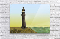 Sunset with Lighthouse  Acrylic Print