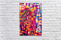 Geometric Abstract Painting  Acrylic Print