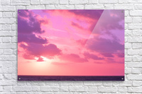 Sunset over the Sea - Shades of Pink  Acrylic Print