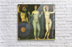 The three Goddesses Athena, Hera and Aphrodite by Franz von Stuck  Acrylic Print