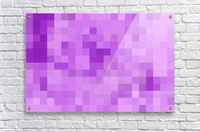 Abstract Pixel Art - Purple Shades  Acrylic Print