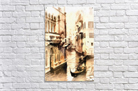 Gondoliers in Venice Vintage  Acrylic Print
