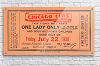 1938 Chicago Cubs World Series Ticket  Acrylic Print