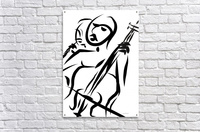 cello and flute  Acrylic Print