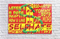 CHURCH OF SELFHATE-LETTER 2 D POPE-ECO-ARCHITECT TOMMY MIGUEL BOYD  Acrylic Print