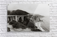 Bixby Bridge B&W  Impression acrylique