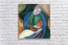 Girl with a Cat II by Franz Marc  Acrylic Print