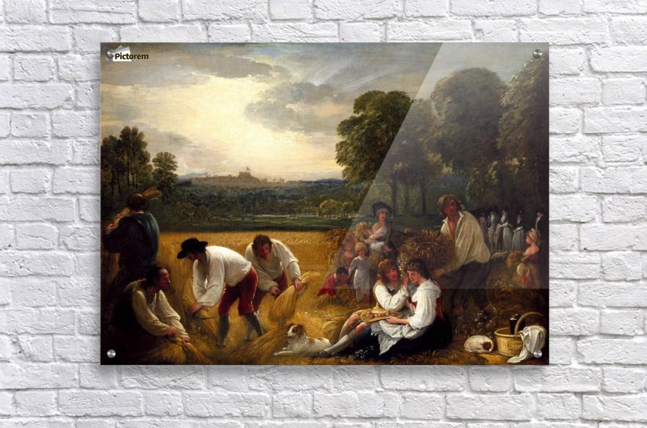 Harvesting at windsor benjamin west canvas