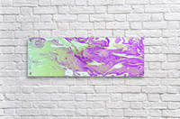 Lavender Mint Water - lavender mint green gradient swirls abstract wall art  Acrylic Print