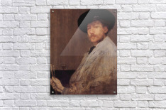 Self Portrait -1- by James Abbot McNeill Whistler  Acrylic Print