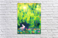 Bunny beneath the Willow Tree  Acrylic Print