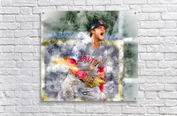 ANDREW BENINTENDI Water Color Print - Boston Red Sox Print  Acrylic Print