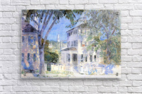 Street in Portsmouth by Hassam  Acrylic Print