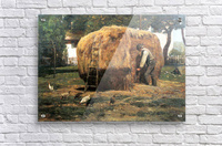 The Barnyard by Hassam  Acrylic Print