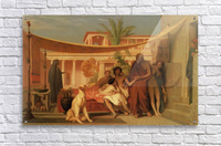 Socrates seeking Alcibiades in the House of Aspasia  Acrylic Print