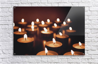 Candles on dark background  Acrylic Print