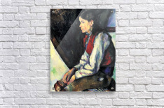 Boy with Red Vest by Cezanne  Acrylic Print