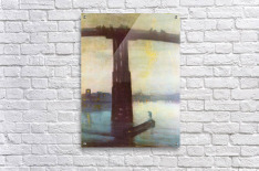 The old Battersea Bridge by James Abbot McNeill Whistler  Acrylic Print
