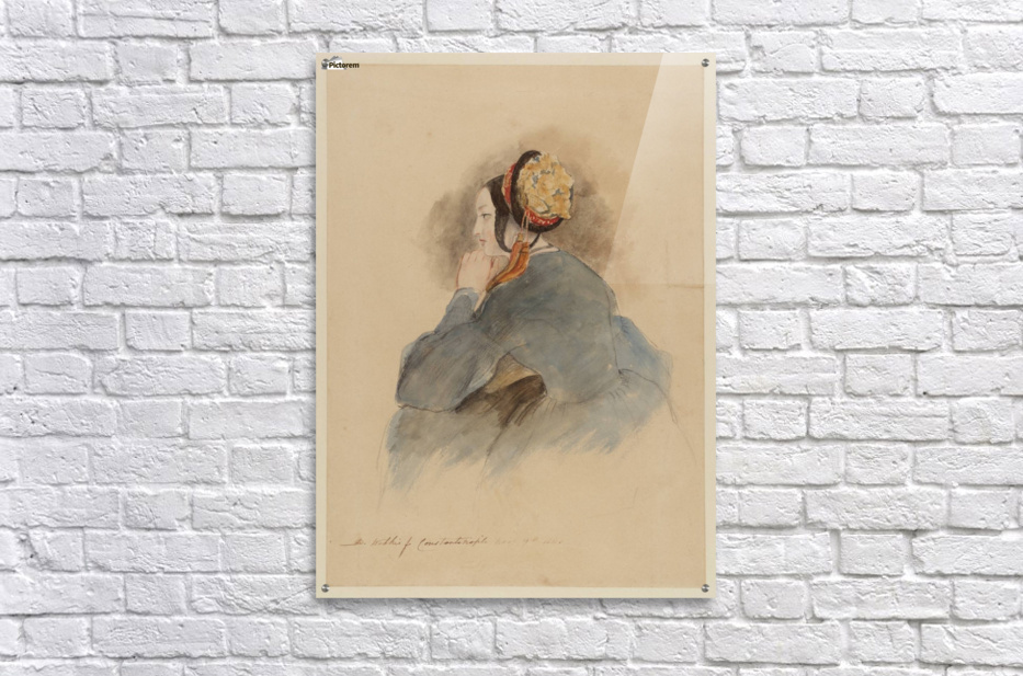 A Girl Seated, in Profile to Left  Acrylic Print