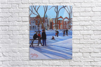 Learning to Skate at Outremont Park  Acrylic Print