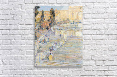 The Spanish steps by Hassam  Acrylic Print