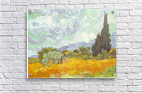 Cornfield with Cyprusses by Van Gogh  Acrylic Print