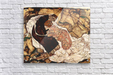 Death and the Woman by Schiele  Acrylic Print