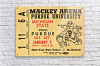 1974_College_Basketball_Michigan State vs. Purdue_Mackey Arena_Row One  Acrylic Print
