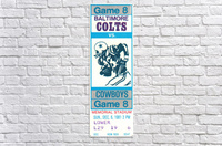 1981_National Football League_Baltimore Colts vs. Dallas Cowboys_Memorial Stadium_Baltimore_Row One  Acrylic Print