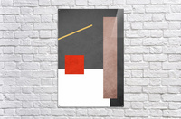 Textured Shapes 03 - Abstract Geometric Art Print  Acrylic Print