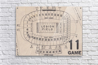 Legion Field Stadium Map Art_Vintage College Football Map Art  Acrylic Print