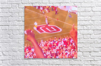 Oklahoma Football Art Owen Field OU Sooners Touchdown Art_Watercolor Style Retro 1980s Sports Art  Acrylic Print