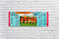 1968 syracuse navy college football ticket stub art poster vintage canvas metal tickets row 1  Acrylic Print