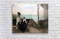 In a villa on the beach by Morisot  Acrylic Print