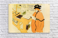 jane avril checking a print sample by toulouse lautrec toulouse lautrec toile. Black Bedroom Furniture Sets. Home Design Ideas
