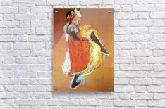 Jane Avril Dancing by Toulouse-Lautrec  Acrylic Print