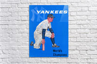1958 New York Yankees Vintage Baseball Art  Acrylic Print