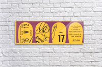 Jerry West 39 points 1968 la lakers nba basketball ticket stub art  Acrylic Print