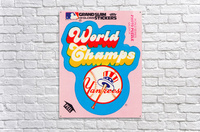 1979 fleer sticker new york yankees world champs poster  Acrylic Print