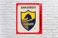 1981 fleer nfl high gloss patch san diego chargers sticker reproduction poster  Acrylic Print
