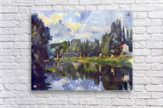 Marne Shore by Cezanne  Acrylic Print
