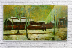 Old Station by Van Gogh  Acrylic Print