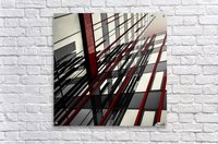 red lines by Gilbert Claes   Acrylic Print
