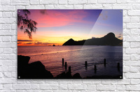Sunset looking at Pigeon Island  Acrylic Print