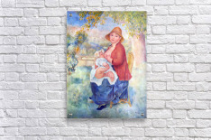 The child at the chest maternity by Renoir  Acrylic Print