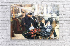 The last evening by Tissot  Acrylic Print