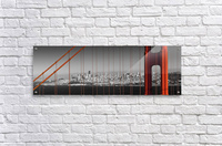 Golden Gate Bridge Panoramic Downtown View  Acrylic Print