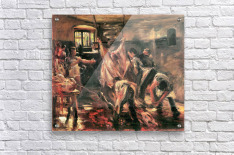 Slaughterhouse by Lovis Corinth  Acrylic Print
