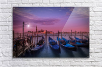 VENICE Gondolas at Sunset  Acrylic Print